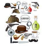 """Accessoires pour photos """"Travail de détective"""" 12 pcs."""
