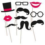"""Accessoires pour photo """"Jolie moustache"""" 10 pcs."""