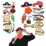 """Accessoires pour photo """"Drôle de soirée de pirates"""" 12 pcs."""