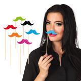 """Accessoires pour photos """"Moustaches colorées"""" 6 pcs."""