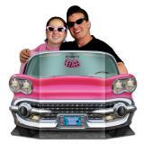 """Décor pour photo """"Cadillac rose"""" 94 x 64 cm"""