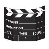 """Décor pour photo """"Clap de cinéma Hollywood"""" 94 x 69 cm"""