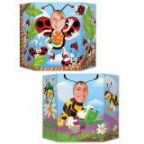 """Décor pour photo """"Coccinelle et abeille"""" 94 x 64 cm"""