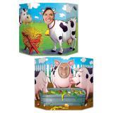"""Décor pour photo """"Vache et cochon"""" 94 x 64 cm"""