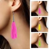 Boucles d'oreille à franges fluo