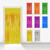 Rideau de porte à franges métallisées 2 m