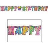 """Guirlande étincelante """"Happy Birthday"""" 1,5 m"""