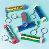 Porte-clés scintillants avec kaléidoscopes 12 pcs