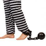 Chaîne pour pied avec boulet 55 cm