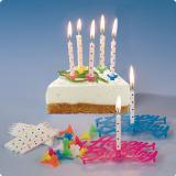 Bougies d'anniversaire avec lettres & support 49 pcs