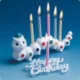 """Set de bougies d'anniversaire """"Chenille colorée"""" 8 pcs"""