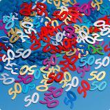 """Confettis d'anniversaire """"50 ans"""" 15 g"""