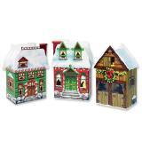 """3 boîtes surprises à garnir """"Maisons de Noël"""""""