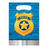 "8 Pochettes cadeau ""Police cool"""