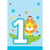 """8 Pochettes cadeau """"Jungle Boy 1. anniversaire"""""""