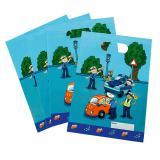 """8 pochettes cadeau """"Police en action"""""""