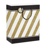 """Pochette cadeau """"Black & Gold"""" 30,5 cm"""