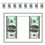 "Guirlande ""Billets de 100 dollars"" 370 cm"