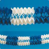 """Guirlande """"Bleu & blanc"""" 10 m"""