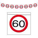 """Guirlande """"Panneau de limitation de vitesse 60 ans"""" 12 m"""