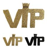 "Logo en paillettes ""VIP - Very Important Party"" 22 cm"