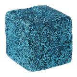 12 cubes pailletés - turquoise