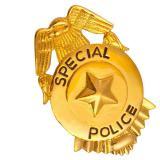 "Broche dorée ""Police"""