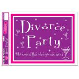 "Gros autocollant ""Divorce Party"" 36 cm"