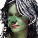Nez de sorcière vert 10 cm