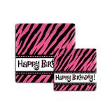"8 assiettes en carton ""Pinky Tiger"" Happy Birthday"