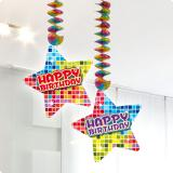 "Décos à suspendre ""Happy Crazy Birthday"" 2 pcs"