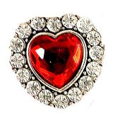 Bague en forme de cœur avec diamants