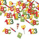 """Confettis en bois """"Rentrée scolaire"""" 12 pcs"""