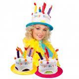 """Chapeau """"Gâteau d'anniversaire multicolore"""""""