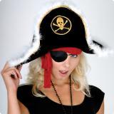 Chapeau de pirate en peluche