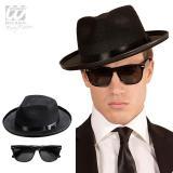"""Chapeau et lunettes """"Blues Man"""" 2 pcs."""