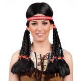 """Perruque """"Indienne"""" avec bandeau et tresses"""