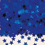 """Confettis """"Étoiles unicolores"""" 14 g - bleu"""