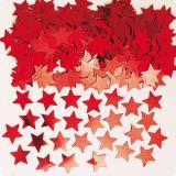 """Confettis """"Étoiles unicolores"""" 14 g - rouge"""
