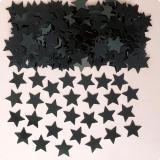 """Confettis """"Étoiles unicolores"""" 14 g - noir"""