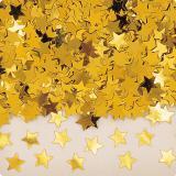 """Confettis """"Étoiles unicolores"""" 14 g - or"""