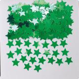 """Confettis """"Étoiles unicolores"""" 14 g - vert"""