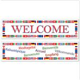 "Bannière internationale ""Welcome"" 2 pcs"