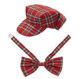 """Bonnet et noeud-papillon à carreaux """"Écossais"""" 2 pcs."""