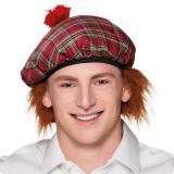 Béret écossais avec cheveux