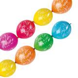 """6 ballons de baudruche """"Happy Birthday"""" pour guirlande"""