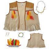 Set costume d'Indien pour enfant 5 pcs