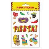 """4 planches de petits autocollants """"Fiesta mexicaine"""""""