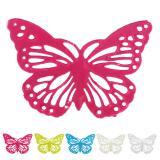 6 petits papillons métalliques