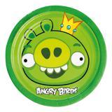 "8 petites assiettes en carton ""Angry Birds"""